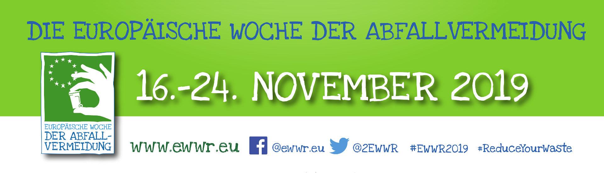 Europäische Woche der Abfallvermeidung 2019