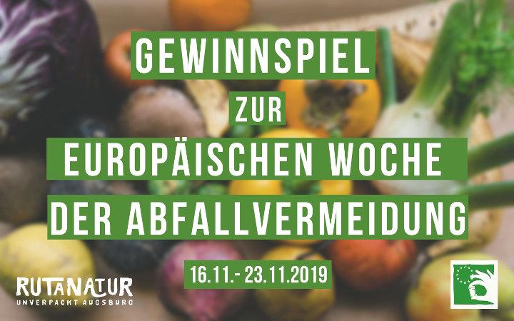 Europäische Woche der Abfallvermeidung 2019 - Gewinnspiel